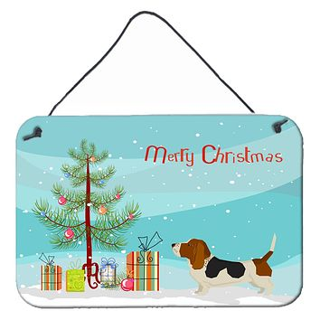 Basset Hound Christmas Tree Wall or Door Hanging Prints CK3518DS812
