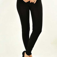 Full Length Basic Leggings, Black