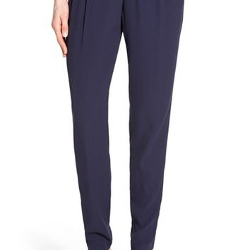 Eileen Fisher Silk Pleat Front Slouchy Pants (Regular & Petite) | Nordstrom