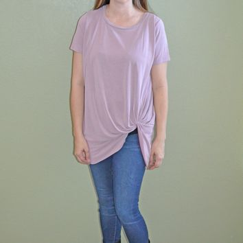 Twisted Detail Top: Lilac