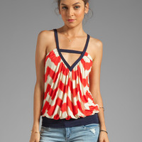 T-Bags LosAngeles Cutout Tank in Warm Zig Zag from REVOLVEclothing.com