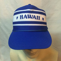 ORIGINAL Vintage 1970s 1980s Hawaii flat bill trucker mens hat cap
