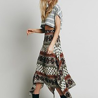 Free People Womens Arabella Printed Maxi Skirt