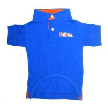 DCCKT9W Florida Gators Dog Polo Shirt