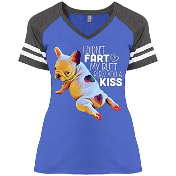 Funny Frenchie Shirt French Bulldog I Didn't Fart Game V-Neck T-Shirt