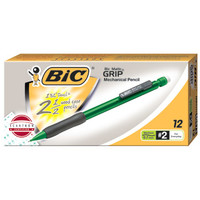BICMatic With Grip Mechanical Pencil, Assorted Colors 12/pk