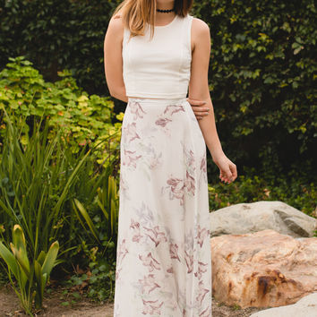 """Flower Girl"" Maxi Skirt"