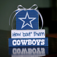 Dallas COWBOYS WoodenBlock shelf sitter stack