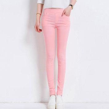 Candy Colored Stretch Pencil Pants