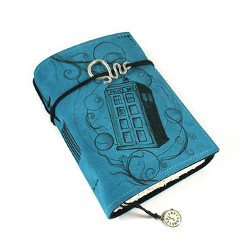 Time Machine, Journal, Leather, Handmade, Suede, Diary