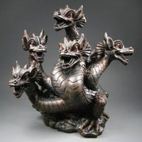 Elegant Expressions 5 Headed Smoke Breathing Dragon Incense Burner, IB465