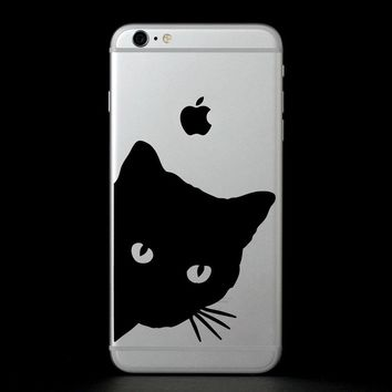 Peekaboo Kitty Cat- vinyl decal sticker
