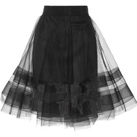 Milly - Tulle A-line skirt