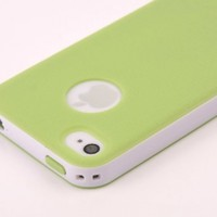 Pandamimi Dexule Light Green White Fashion Sweety Girls TPU + PC 2-Piece Style Hard Case Cover for iPhone 4 4S with Screen Protector:Amazon:Cell Phones & Accessories