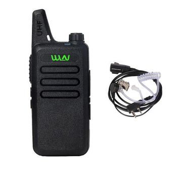 ONETOW WLN KD-C1 UHF 400-470 MHz MINI Handheld Two-Way Ham Radio Communicator HF Transceiver Portable Walkie Talkie With headset Cable