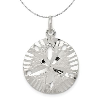 Sterling Silver 20mm Sand Dollar Necklace