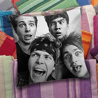 5SOS Funny Selfie  decorative pillow and pillow case