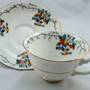 Cup and Saucer, Collectible Set, Gladstone Fine Bone China, Made in England (4)