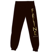Black Feline Harem Pants