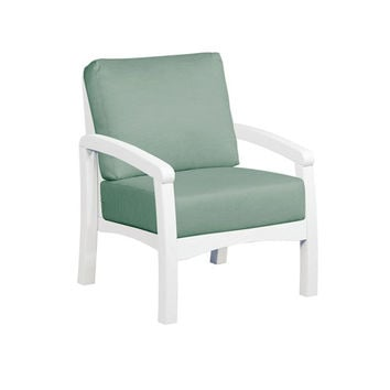 Bay Breeze Spa Arm Chair With Cushion C.R. Plastic Products Arm Chairs Patio Chairs