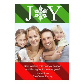 Joy Christmas Holiday Card | Photo