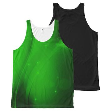 Emerald Wave All-Over Print Tank Top