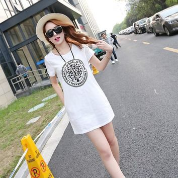 White color Summer dress nigth sleep dress summer women's clothing dress fashion Style thin casual sexy dress for Summer women