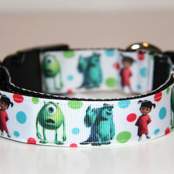 Monsters Inc Adjustable Dog Collar