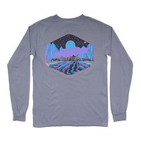 Limited Edition Night Train Long Sleeve Tee in Granite by Waters Bluff - FINAL SALE