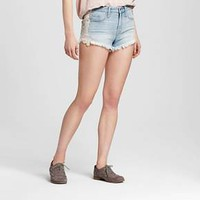 Women's High-rise Shorts with Lace Light Wash - Mossimo™