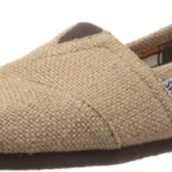 TOMS Mens Natural Burlap Classic Woven Slip-On Shoes Size 12