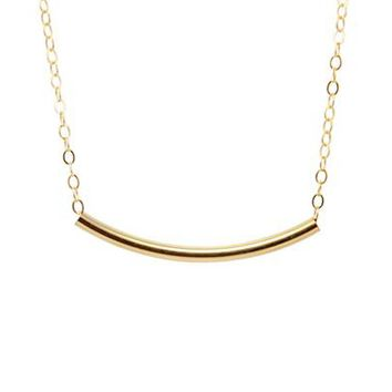 Curve Tube Necklace