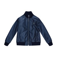 Dolce & Gabbana Leather Bomber Jacket Navy| Harrods