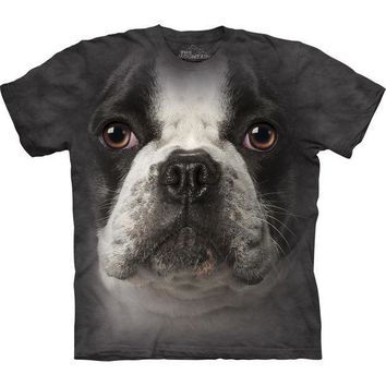 PEAPGQ9 French Bulldog Face T-Shirt