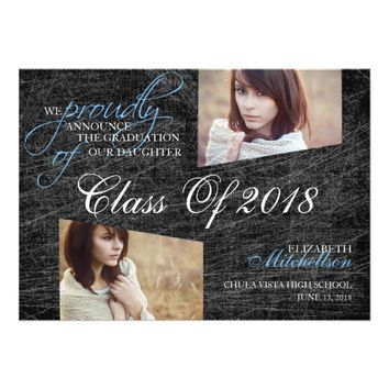 Grunge Elegance 2018 Graduation Announcements