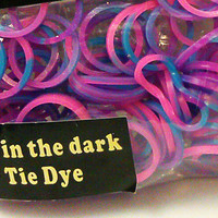 loom Rubber Bands Glow that fit Rainbow Loom Tie Dye 100 pack New Tie Dye rubberbands no.13