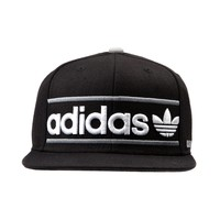 Mens adidas Heritage Snapback Hat, Black White Gray | Journeys Shoes