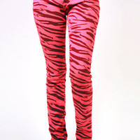 Skinny Jeans Zebra (Pink & Black) by Criminal Damage