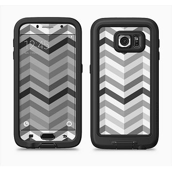 The Grayscale Gradient Chevron Zigzag Pattern Full Body Samsung Galaxy S6 LifeProof Fre Case Skin Kit