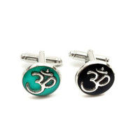 Om Cufflinks / spiritual accessories / men's suit / spiritual cufflinks / grooms wedding cufflinks / Father's day gift / men's om jewelry