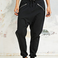 Sparkle & Fade Seam Zip Jogger in Black - Urban Outfitters
