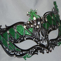 Metallic Masquerade Mask in Color of Your Choice
