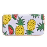 Graphic Pineapple and Watermelon Wallet