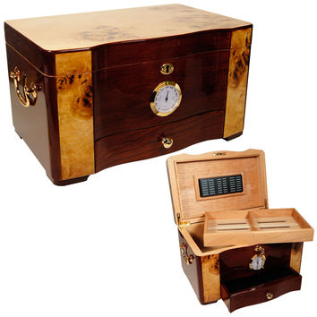 Cuban Elegance Large Cigar Humidor for 120 Cigars
