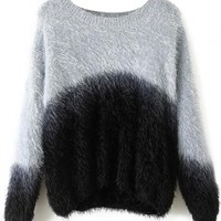 Chic Color-Blocked Knit Sweater - OASAP.com