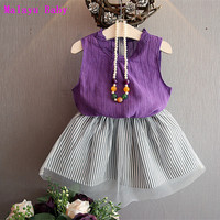 2017 Europe & United States the new summer girls dress skirt, solid color lace neckline vest + thin gauze tutu skirt two piece-in Clothing Sets from Mother & Kids on Aliexpress.com | Alibaba Group