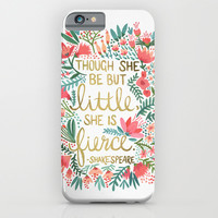 Little & Fierce iPhone & iPod Case by Cat Coquillette