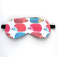 Cute Sleep Mask Girls, Hedgehog Eyemask, Women Blindfold, Teen Gift Child Kid Pre-teen, Fleece Cotton Knit, Toddler Nap Face, Small Animals