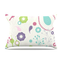 "Nicole Ketchum ""Bird Song"" Fleece Pillow Case - Outlet Item"