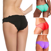 Women Brazilian Cheeky Bikini Bottom Thong Bathing Beach Swimsuit Swimwear Plus Size